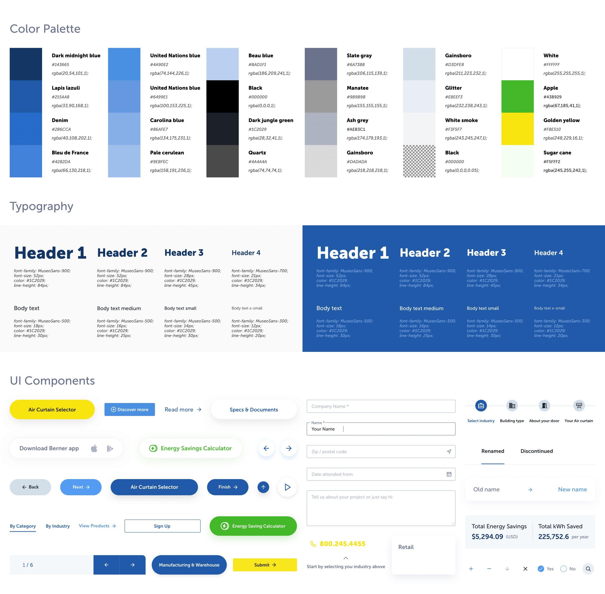Web UI Design System