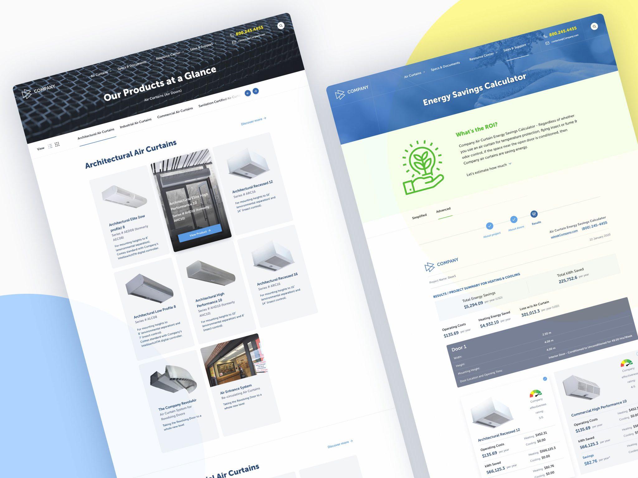 Corp website redesign