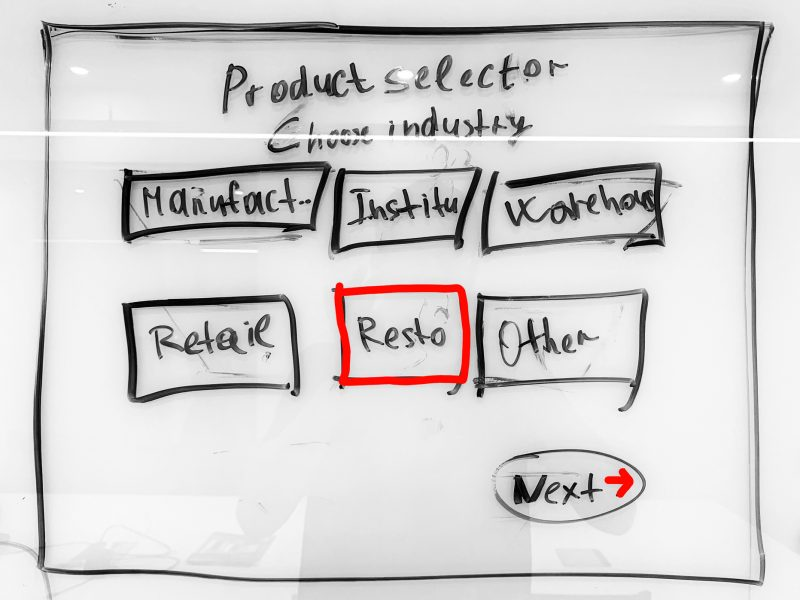 Product Selector UX Whiteboarding